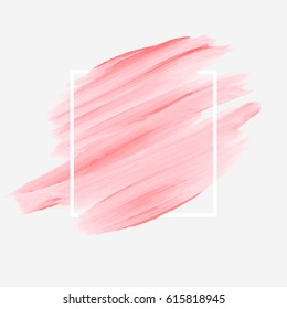 Brush painted abstract background watercolor design illustration vector over square frame. Perfect acrylic design for headline, logo and sale banner.