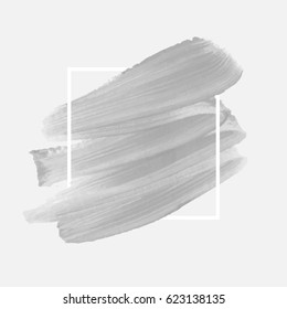 Brush painted watercolor abstract background design illustration vector over square frame. Perfect acrylic design for headline, logo and sale banner.