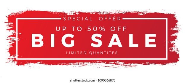 brush sale banner vector