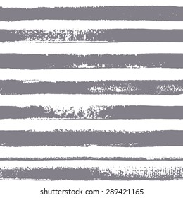 Brush stripes vector seamless pattern. Eight gray stripes on white background. Vector texture. Brush drawn - rough, artistic edges.