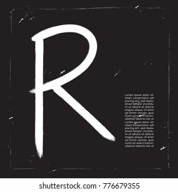 Brush Stroke Alphabet Set : Vector Illustration