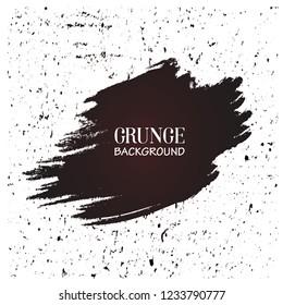 Brush stroke banner vector illustration design. Black paint ink brush stroke frame. Black grunge paint line texture