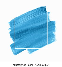 Brush stroke paint acrylic abstract background vector over square frame. Perfect creative design for headline, logo and sale banner.