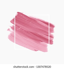 Brush stroke paint background vector. Perfect painted design for logo, sale banner or headline.