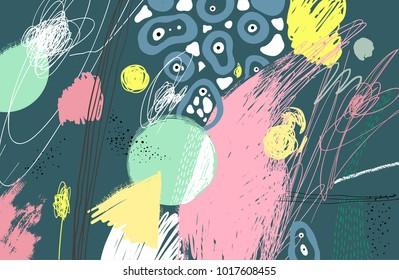 Brush stroke pattern. Abstract background. Vector artwork.