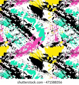 Brush stroke pattern. Summer, spring bright texture for fabric, prints, cloth, postcards. Chaotic free hand composition