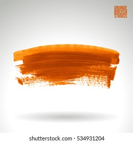 Brush stroke and texture. Vector design. Underline and border.