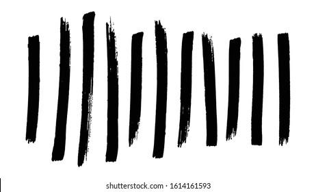 Brush strokes, marker design element