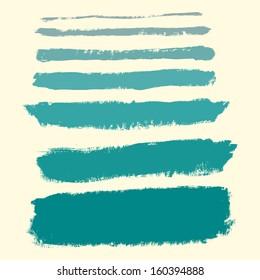 Brush Strokes - Set - Isolated On White Background - Vector Illustration, Graphic Design Editable For Your Design