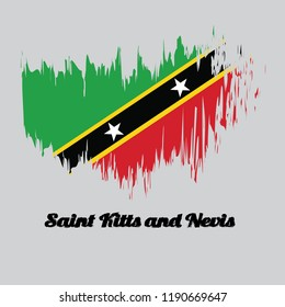 saint kitts and nevis flag styles images stock photos vectors