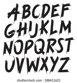 Brush Style Hand Draw Font Abc