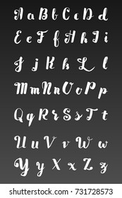 Brush typeface, vintage style