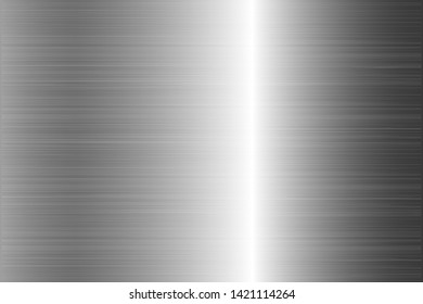 Brushed metal chrome silver steel texture vector icon set collection. Shiny scratched vector metallic gradient icon grunge background silver for banner, label, medal. Silver gradient aluminium