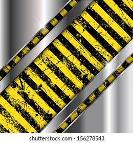 Brushed metal and grunge striped background