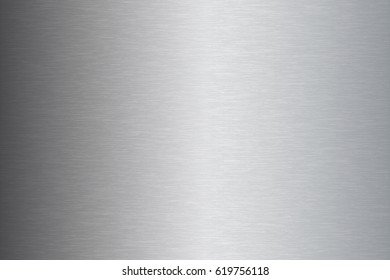 Brushed metal stainless steel texture vector illustration
