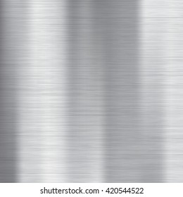 Brushed metal texture. Gray vector abstract background. Steel or Aluminium.