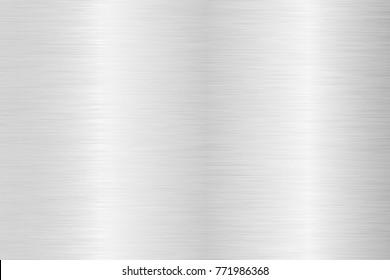 Brushed steel background. Metal texture. Vector 3d illustration