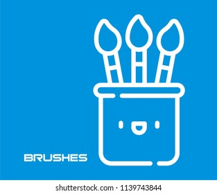 BRUSHES VECTOR ICON