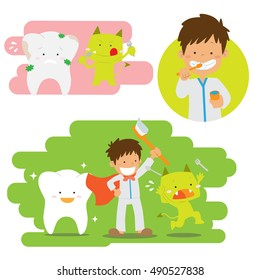 Brushing teeth vector stock