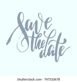 """brush-type lettering """"save the date"""""""