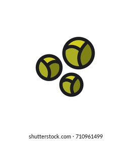 Brussels sprouts. Vector icon