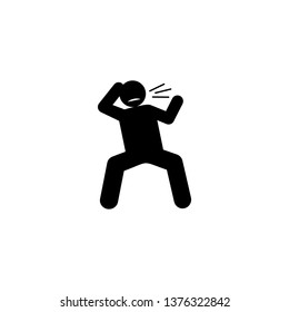 Brutal, hostile, man icon. Element of negative character traits icon. Premium quality graphic design icon. Signs and symbols collection icon for websites