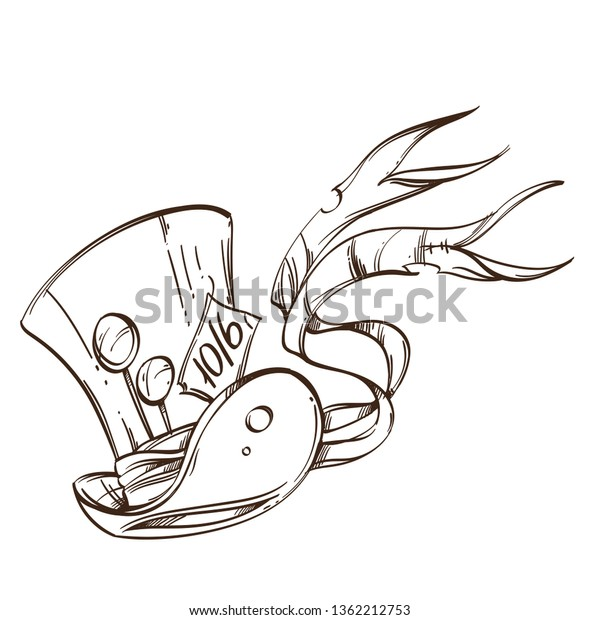 Brutal Style Alice Wonderland Collection One Stock Vector Royalty Free 1362212753