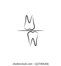 bruxism, bite block icon. Element of dantist for mobile concept and web apps illustration. Hand drawn icon for website design and development, app development