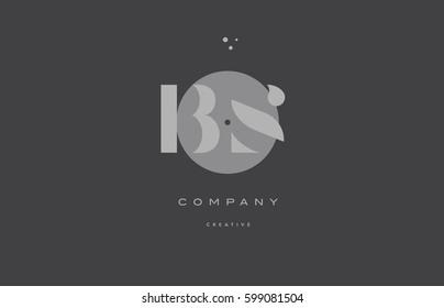 bs b s  grey modern stylish alphabet dot dots eps company letter logo design vector icon template