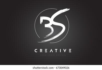 BS Brush Letter Logo Design. Artistic Handwritten Brush Letters Logo Concept Vector.