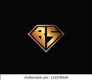 BS diamond shape gold color design