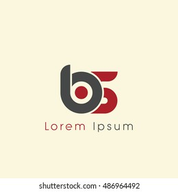 bs initial letter linked lowercase logo. b and s vector template design.