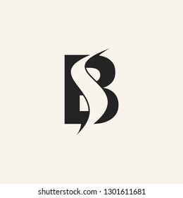 BS letter logo vector icon