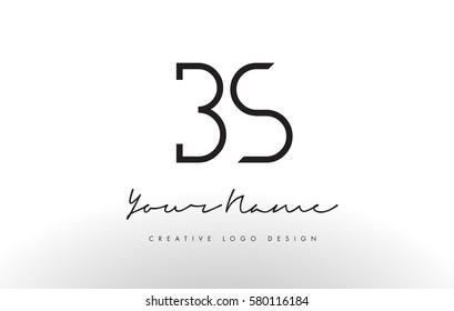 BS Letters Logo Design Slim. Simple and Creative Black Letter Concept Illustration.