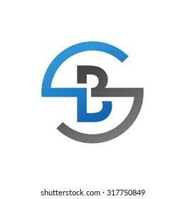 BS SB initial company circle S logo blue
