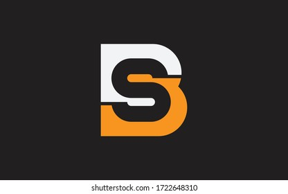 BS or SB Letter Initial Logo Design, Vector Template