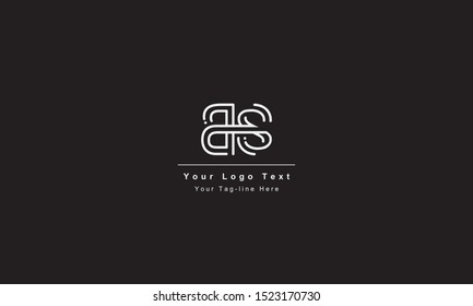 BS or SB letter logo. Unique attractive creative modern initial BS SB B S initial based letter icon logo