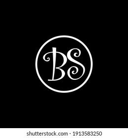 BS Unique abstract modern geometric vector logo design