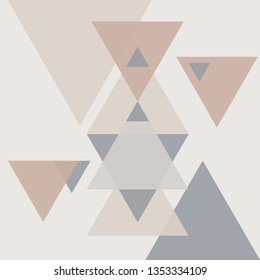 bstract geometric background.Triangle background.Vector template.