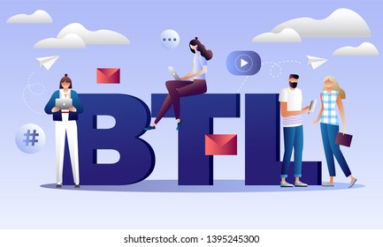 BTL or below the line communication with customer. Marketing strategy of product promotion. Direct offer to person. Isolated 3d vector illustration with characters