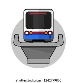 BTS Skytrain . Bangkok skytrain vector icon