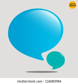 Bubble balloons quote. Vector Background