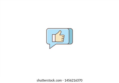 Bubble chat concept icon in trendy flat style isolated on white background. Bubble chat concept symbol. Vector illustration