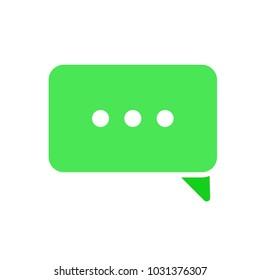 Bubble chat dialogue ellipsis loading message speech icon. Vector illustration