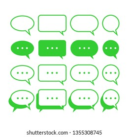 bubble chat icon vector. conversation chat icon symbol