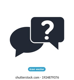 bubble chat question icon. bubble chat question symbol template for graphic and web design collection logo vector illustration