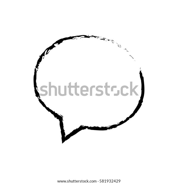 Bubble chat speakbox icon vector illustration graphic design