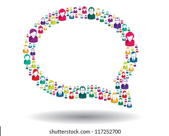 bubble of communication in illustration vector