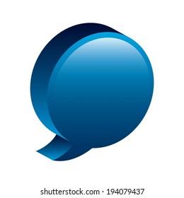 Bubble design over white background, vector illustration