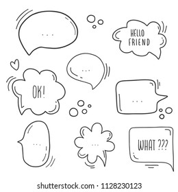 bubble dialog doodle vector line message